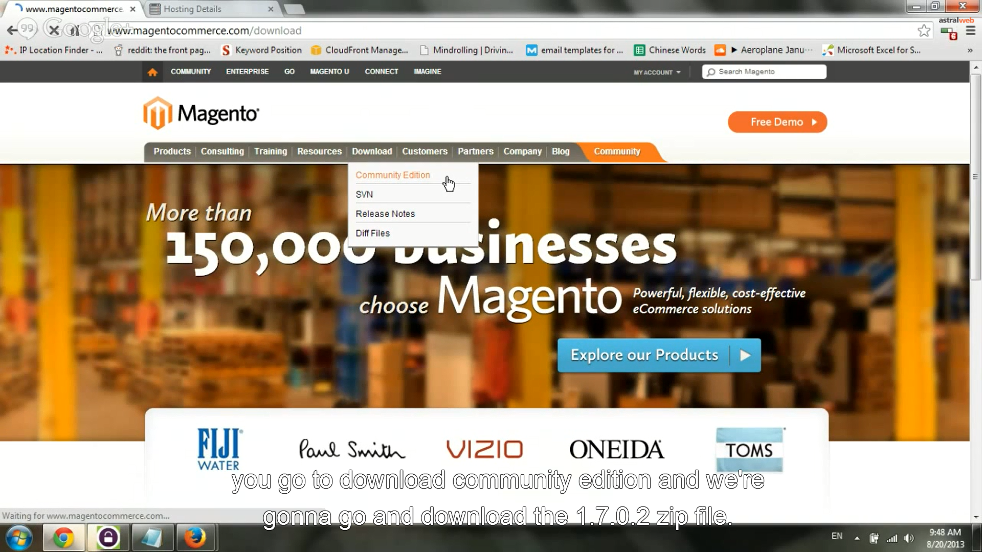 Download Magento CE