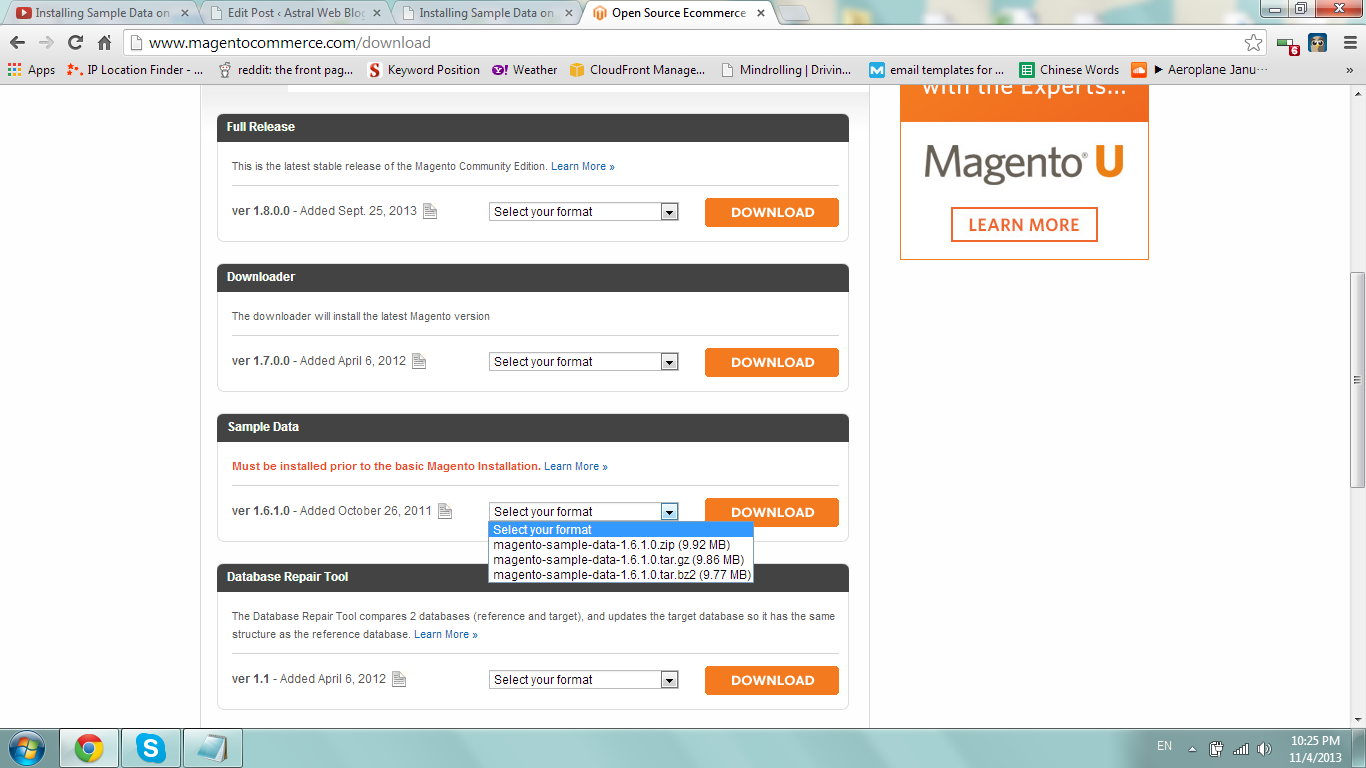 Download Magento Sample Data