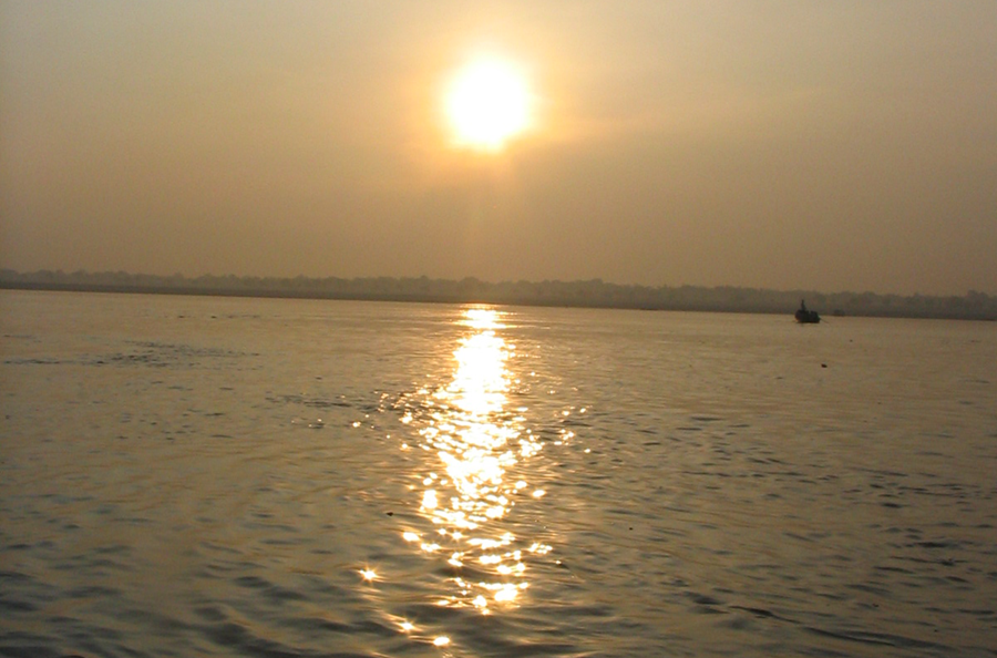 Photo Taken of Ganges River in Varanasi, India (2005)
