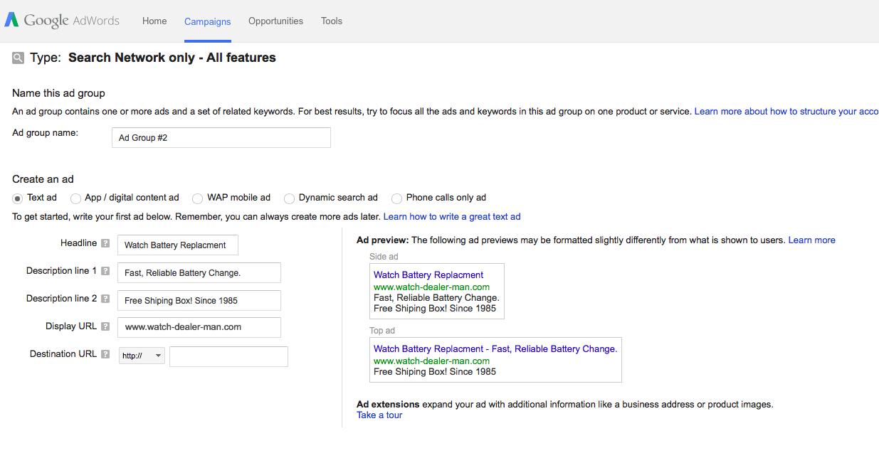 improving cpc through google adwords. Black Bedroom Furniture Sets. Home Design Ideas
