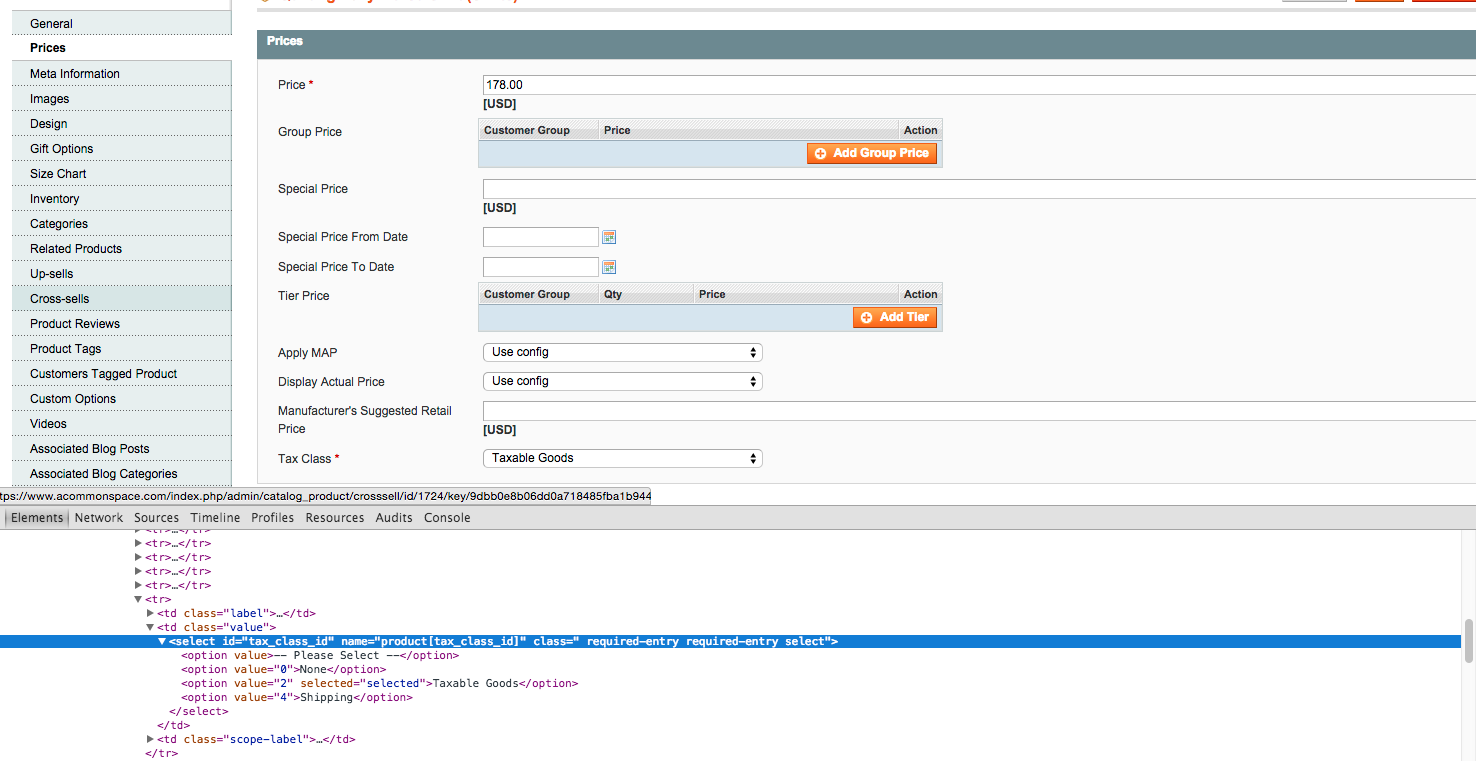 magento attribute code source code inspection