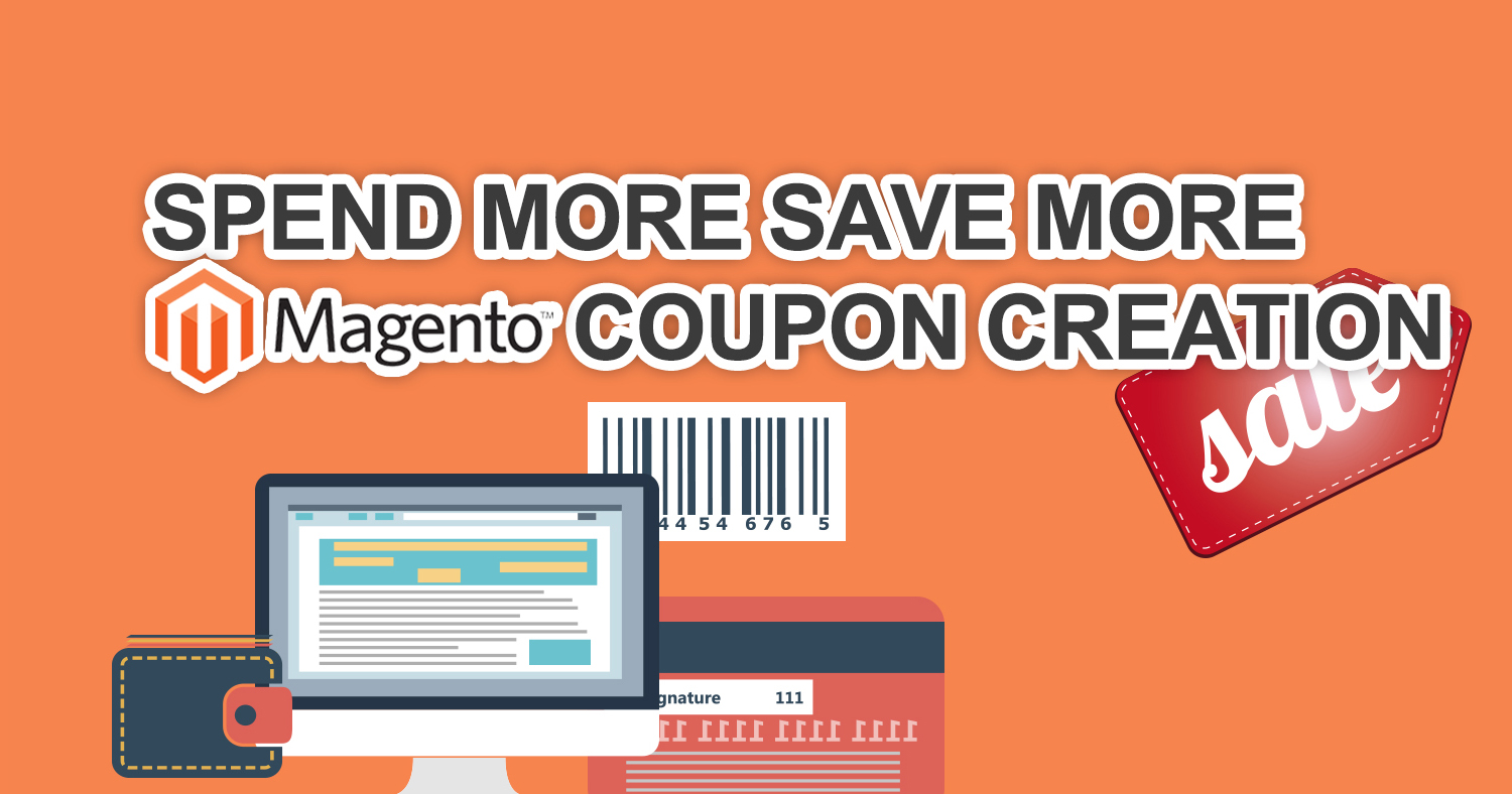 Spend more save more magento coupon tutorial banner
