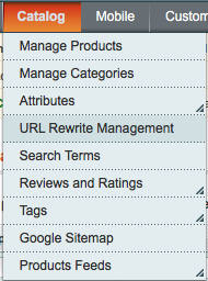 URL rewrite management tab