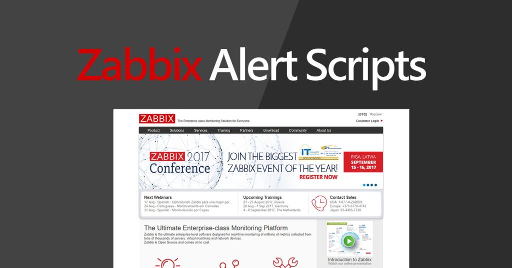 Configure Zabbix Alert Scripts