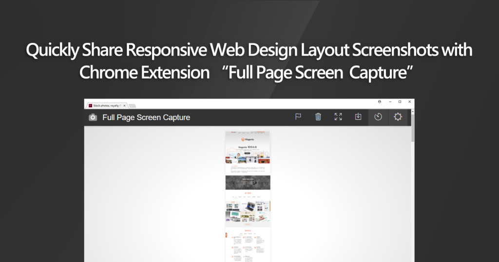 share responsive design screenshots article banner