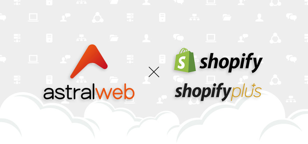 astral web Shopify development services banner